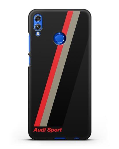 Чехол с логотипом Ауди Спорт силикон черный для Honor 8X