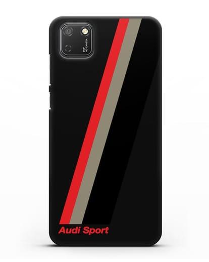 Чехол с логотипом Ауди Спорт силикон черный для Honor 9S