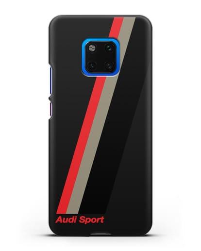 Чехол с логотипом Ауди Спорт силикон черный для Huawei Mate 20 Pro