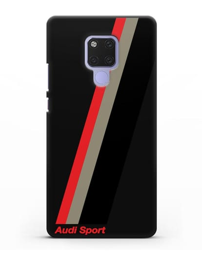 Чехол с логотипом Ауди Спорт силикон черный для Huawei Mate 20X