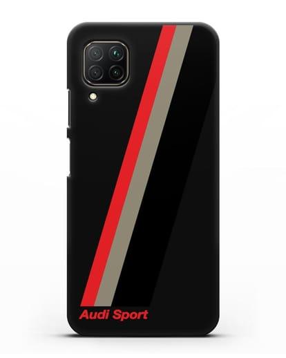 Чехол с логотипом Ауди Спорт силикон черный для Huawei P40 lite