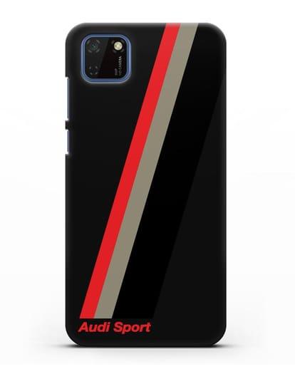 Чехол с логотипом Ауди Спорт силикон черный для Huawei Y5P