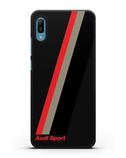 Чехол с логотипом Ауди Спорт силикон черный для Huawei Y6 2019