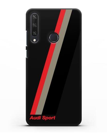 Чехол с логотипом Ауди Спорт силикон черный для Huawei Y6P
