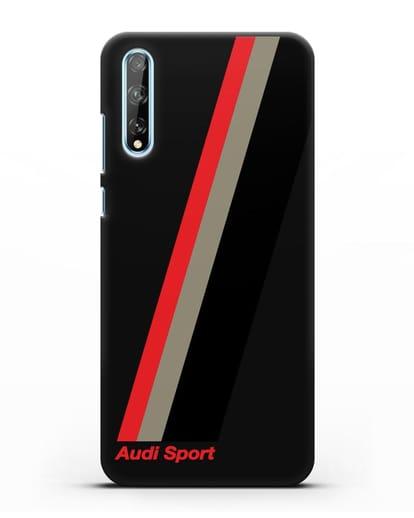 Чехол с логотипом Ауди Спорт силикон черный для Huawei Y8P