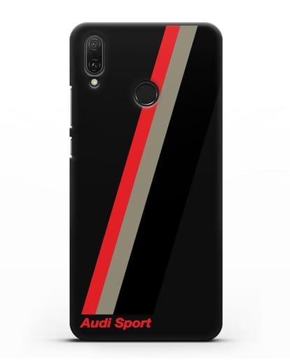 Чехол с логотипом Ауди Спорт силикон черный для Huawei Y9 2019