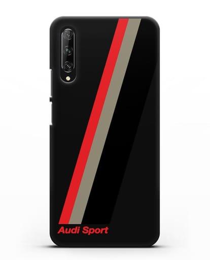 Чехол с логотипом Ауди Спорт силикон черный для Huawei Y9s