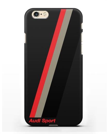 Чехол с логотипом Ауди Спорт силикон черный для iPhone 6