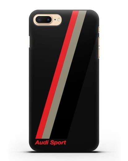 Чехол с логотипом Ауди Спорт силикон черный для iPhone 7 Plus