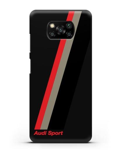Чехол с логотипом Ауди Спорт силикон черный для Xiaomi Poco X3