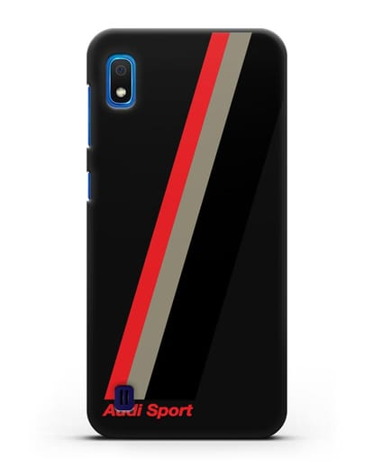 Чехол с логотипом Ауди Спорт силикон черный для Samsung Galaxy A10 [SM-A105F]