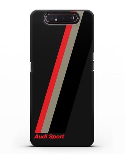 Чехол с логотипом Ауди Спорт силикон черный для Samsung Galaxy A80 [SM-A805F]