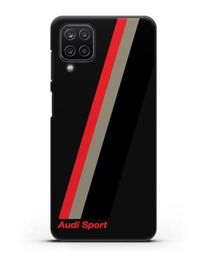 Чехол с логотипом Ауди Спорт силикон черный для Samsung Galaxy A12 [SM-A125F]