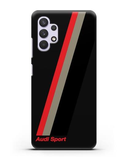 Чехол с логотипом Ауди Спорт силикон черный для Samsung Galaxy A32 4G [SM-A325F]