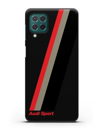 Чехол с логотипом Ауди Спорт силикон черный для Samsung Galaxy M62 [SM-M625F]