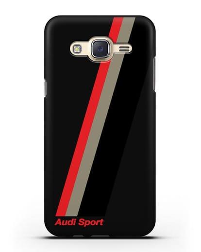 Чехол с логотипом Ауди Спорт силикон черный для Samsung Galaxy J5 2015 [SM-J500H]