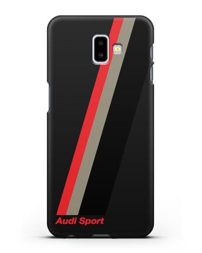 Чехол с логотипом Ауди Спорт силикон черный для Samsung Galaxy J6 Plus [SM-J610F]