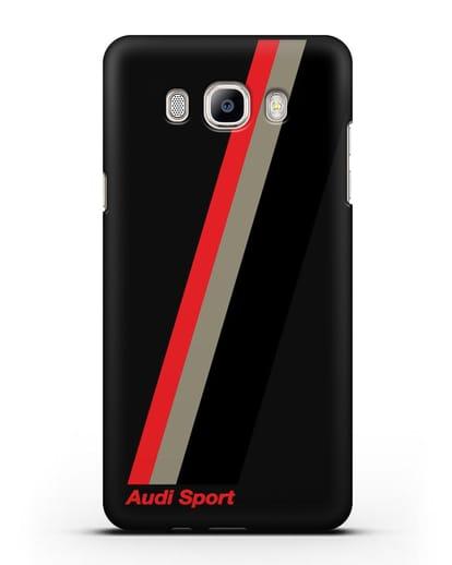 Чехол с логотипом Ауди Спорт силикон черный для Samsung Galaxy J7 2016 [SM-J710F]