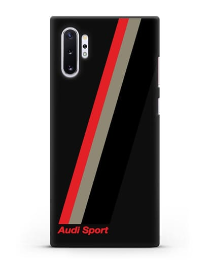 Чехол с логотипом Ауди Спорт силикон черный для Samsung Galaxy Note 10 Plus [N975F]