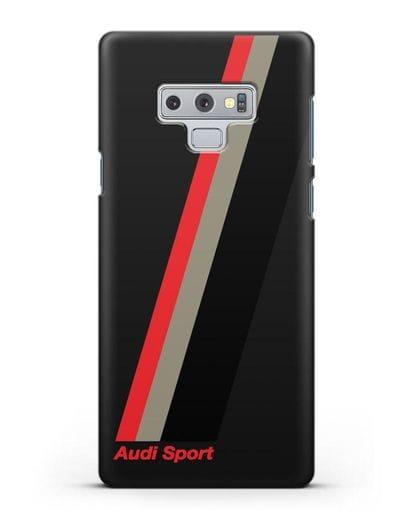 Чехол с логотипом Ауди Спорт силикон черный для Samsung Galaxy Note 9 [N960F]