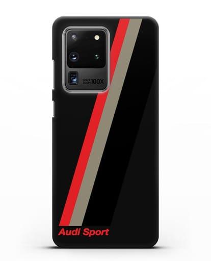Чехол с логотипом Ауди Спорт силикон черный для Samsung Galaxy S20 Ultra [SM-G988B]