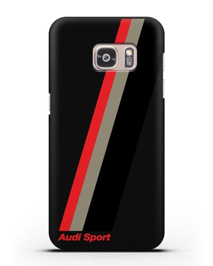 Чехол с логотипом Ауди Спорт силикон черный для Samsung Galaxy S7 Edge [SM-G935F]