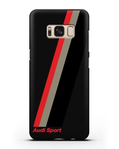Чехол с логотипом Ауди Спорт силикон черный для Samsung Galaxy S8 Plus [SM-G955F]