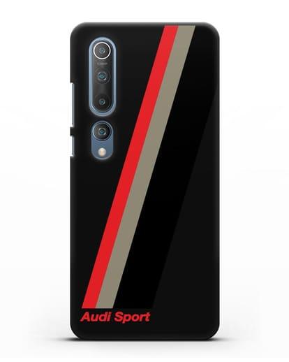 Чехол с логотипом Ауди Спорт силикон черный для Xiaomi Mi 10 Pro