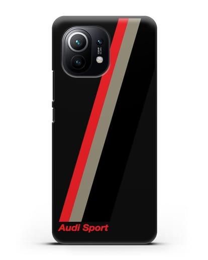 Чехол с логотипом Ауди Спорт силикон черный для Xiaomi Mi 11