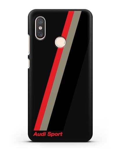 Чехол с логотипом Ауди Спорт силикон черный для Xiaomi Mi 8