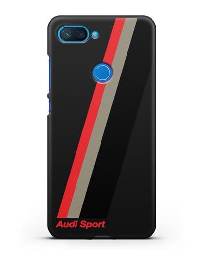 Чехол с логотипом Ауди Спорт силикон черный для Xiaomi Mi 8 Lite
