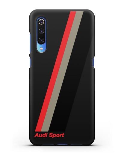 Чехол с логотипом Ауди Спорт силикон черный для Xiaomi Mi 9