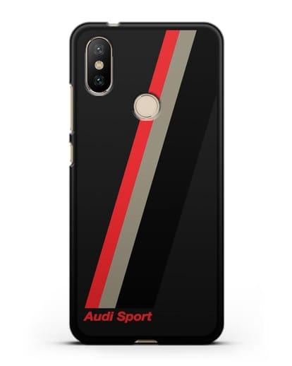 Чехол с логотипом Ауди Спорт силикон черный для Xiaomi Mi A2