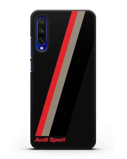 Чехол с логотипом Ауди Спорт силикон черный для Xiaomi Mi CC9 E