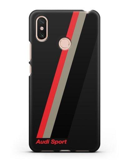 Чехол с логотипом Ауди Спорт силикон черный для Xiaomi Mi Max 3