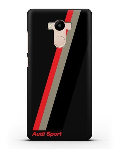 Чехол с логотипом Ауди Спорт силикон черный для Xiaomi Redmi 4 Pro