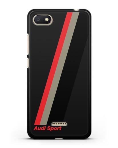 Чехол с логотипом Ауди Спорт силикон черный для Xiaomi Redmi 6A