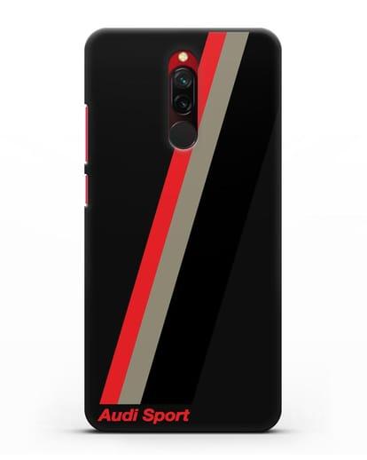Чехол с логотипом Ауди Спорт силикон черный для Xiaomi Redmi 8