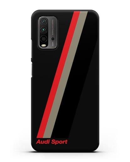 Чехол с логотипом Ауди Спорт силикон черный для Xiaomi Redmi 9T