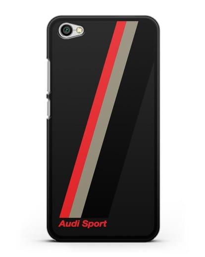 Чехол с логотипом Ауди Спорт силикон черный для Xiaomi Redmi Note 5A