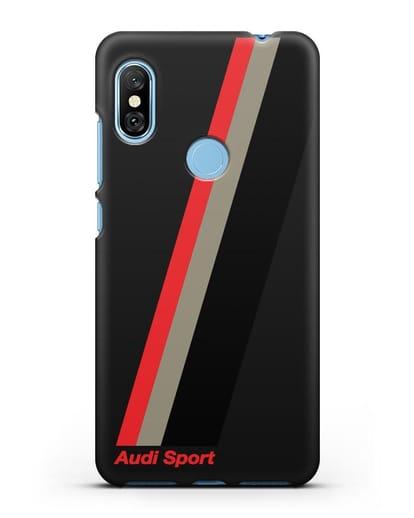 Чехол с логотипом Ауди Спорт силикон черный для Xiaomi Redmi Note 6 Pro