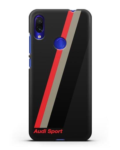 Чехол с логотипом Ауди Спорт силикон черный для Xiaomi Redmi Note 7