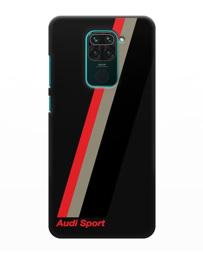 Чехол с логотипом Ауди Спорт силикон черный для Xiaomi Redmi Note 9