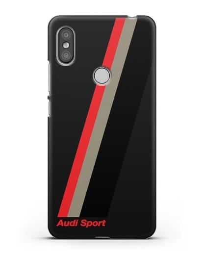 Чехол с логотипом Ауди Спорт силикон черный для Xiaomi Redmi S2