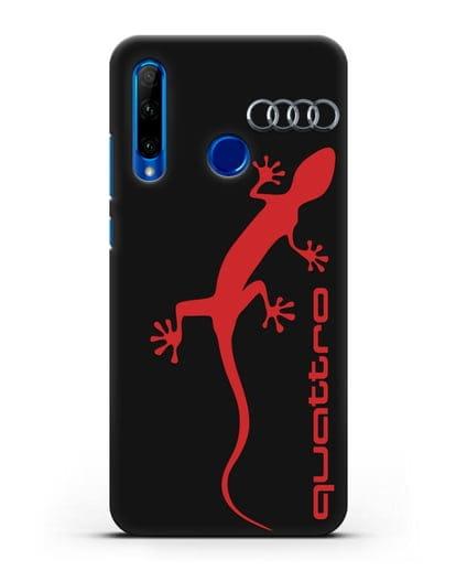 Чехол с логотипом Audi Quattro силикон черный для Honor 10i