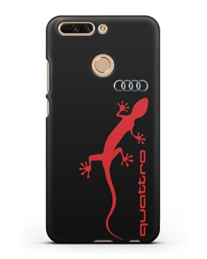 Чехол с логотипом Audi Quattro силикон черный для Honor 8 Pro