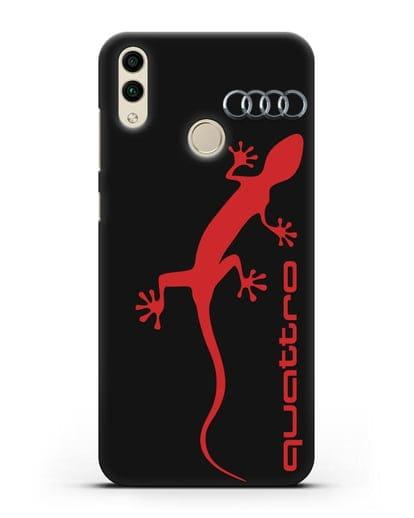 Чехол с логотипом Audi Quattro силикон черный для Honor 8C