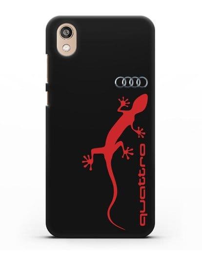 Чехол с логотипом Audi Quattro силикон черный для Honor 8S