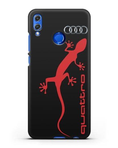 Чехол с логотипом Audi Quattro силикон черный для Honor 8X