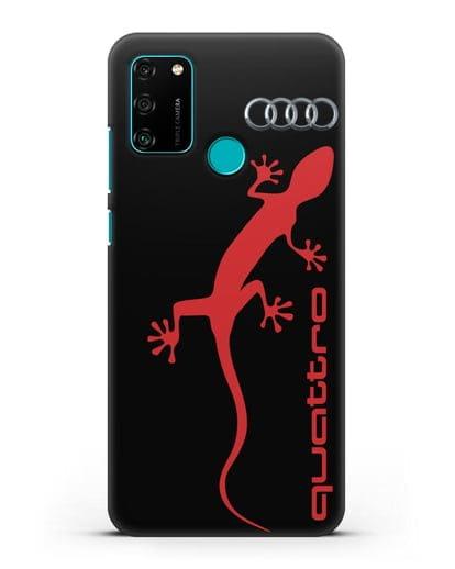 Чехол с логотипом Audi Quattro силикон черный для Honor 9A